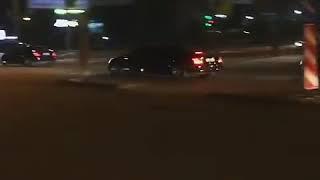 Владимир Путин едет по Новосибирску