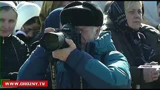 """Более 170 тысяч человек приняли участие в акции """"Россия в моем сердце!"""" в Грозном"""