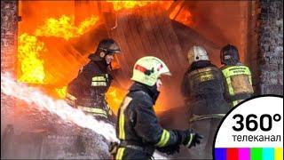 Серьезный пожар произошел ночью на юге Москвы