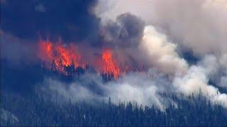 Пожары охватили запад США