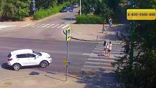 ДТП (сбит велосипедист г. Волжский) пр. Ленина ул. Комсомольская 31-08-2018 11-04