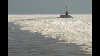 Опубликовано видео прохода «Юрия Долгорукого» через арктические льды