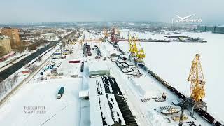 Тольятти с высоты птичьего полета (март 2018). HD