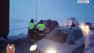 На севере края микроавтобус с детьми врезался в КамАЗ