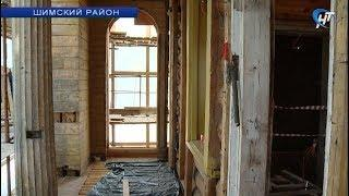 В деревне Коростынь продолжается восстановление путевого дворца Александра I