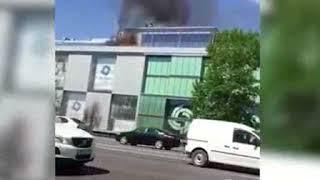 В Москве горит ТЦ  НОВОСТИ ДНЯ