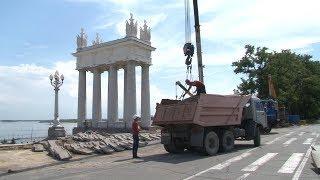 В Волгограде возобновились реставрационные работы на Центральной набережной