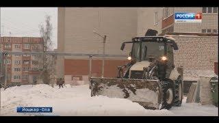 В Йошкар-Оле не хватает снегоуборочной техники для очистки дворов - Вести Марий Эл