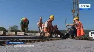 Мост в Новолитовске уже на половину построен. Видеорепортаж