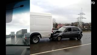 ДТП с большегрузами в Калининградской области. 27.11.18