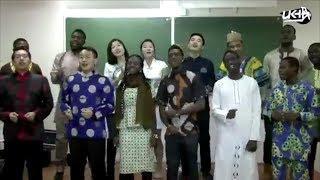 Иностранные студенты исполняют популярную песню на башкирском языке