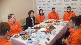 Наталья Комарова встретилась с югорскими участниками «Абилимпикса»