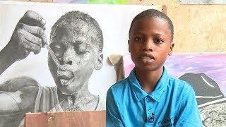 11-летний мальчик из Нигерии рисует гиперреалистичные картины