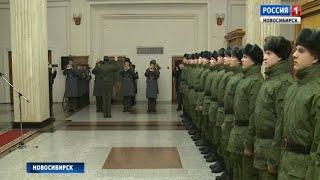 На службу в Президентский полк отправили 15 новобранцев из Новосибирска