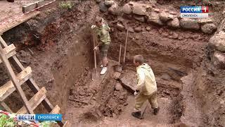 В Смоленске обнаружен фрагмент средневековой крепости