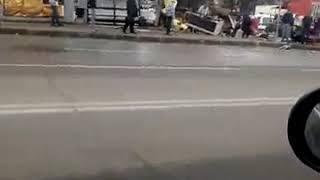 Новосибирск. ДТП на Никитина (часть 1).