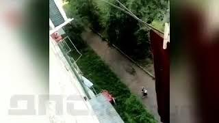 В Приморье случайные прохожие поймали малыша,выпавшего из окна 5-этажного дома.