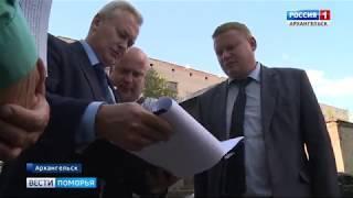 Виталий Акишин проинспектировал работы во дворах Архангельска