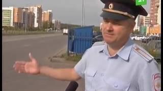 Зебру на четырехполосной дороге Челябинска забыли обозначить знаками