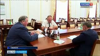 Владимир Волков обсудил с руководителем работу «Саранского телевизионного завода»