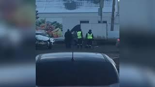 В Тамбове автомобиль скорой помощи попал в тройное ДТП