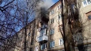 Пожар на улице Варейкиса в Воронеже