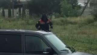 Автомобиль утонул на улице Пирогова Ставрополь