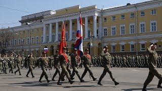 Репетиция парада ко Дню Победы