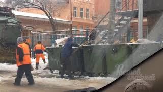 Новый вид утилизации снега 14.2.2018 Ростов-на-Дону Главный