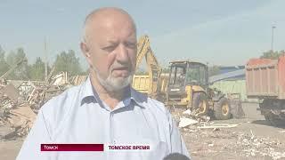 В Кировском районе Томска продолжают снос незаконных построек