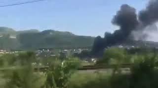 В Кисловодске горит дом