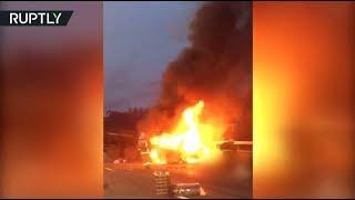 В Санкт-Петербурге при столкновении грузовика и микроавтобуса погибли восемь человек