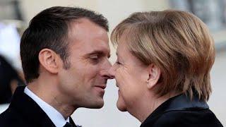 На юбилее в Париже старушка приняла Меркель за жену Макрона…