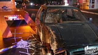 Происшествия: в Кривом Роге водитель Skoda влетел в авто-площадку | 1kr.ua