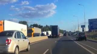 На трассе М-4 в Азовском районе образовалась пробка
