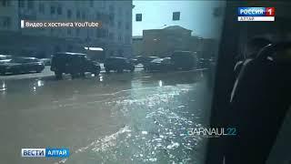 Проспект Калинина в Барнауле встал в пятибалльной пробке из-за коммунальной аварии