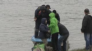 Затонувший понтонный мост в Ростове, эвакуация
