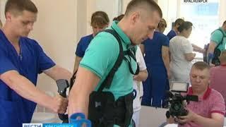 В красноярской неврологической клинике протестировали медицинский экзоскелет