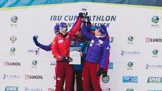 Российская женская сборная по биатлону получила в Ханты-Мансийске хрустальный глобус
