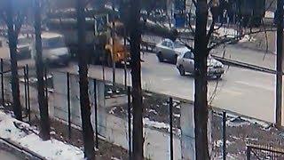 ДТП с трубой попало на видео