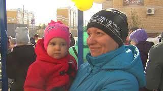 В Чкаловском посёлке Омска появилась новая инклюзивная детская площадка для занятий спортом