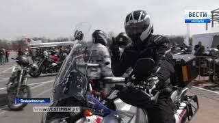 Байкеры подарили Андрею Тарасенко мотошлем
