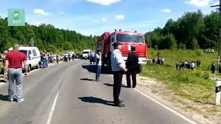 ЧП в Орловской области: ФАН публикует видео с места столкновения поезда с автобусом