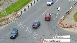 В Рыбинске не смогли разъехаться сразу три авто