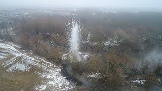 В Волгоградской области пиротехники подорвали ледовый затор