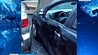 Нетрезвая автоледи за одну ночь разбила сразу 10 машин