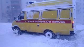 Проблемы с выездом скорой помощи из-за снегопада