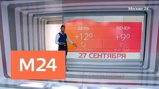 """""""Климат-контроль"""": какая погода ждет москвичей в конце сентября - Москва 24"""