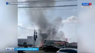 В Ставрополе на парковке взорвался автомобиль