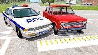 Бандит нарвался на полицейские шипы Потерял управление машиной и разбился насмерть ДТП на трассе